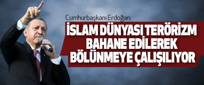 Cumhurbaşkanı Erdoğan: İslam Dünyası Terörizm Bahane Edilerek Bölünmeye Çalışılıyor