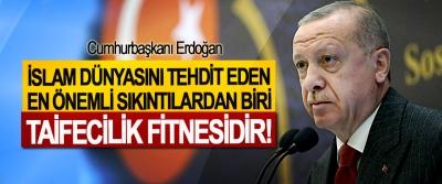 Cumhurbaşkanı Erdoğan: İslam Dünyasını Tehdit Eden En Önemli Sıkıntılardan Biri Taifecilik Fitnesidir!
