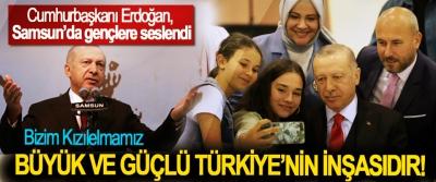 Cumhurbaşkanı Erdoğan, Samsun'da gençlere seslendi