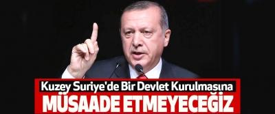 Cumhurbaşkanı Erdoğan, Kuzey Suriye'de Bir Devlet Kurulmasına Müsaade Etmeyeceğiz