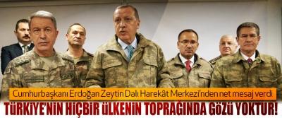Cumhurbaşkanı Erdoğan Zeytin Dalı Harekât Merkezi'nden net mesaj verdi