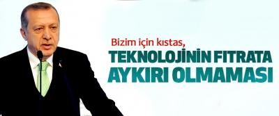 Cumhurbaşkanı Erdoğan, Bizim için kıstas, Teknolojinin Fıtrata Aykırı Olmaması