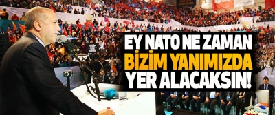 Cumhurbaşkanı Erdoğan: Ey NATO ne zaman bizim yanımızda yer alacaksın!