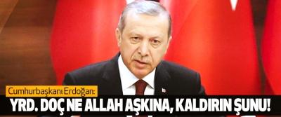 Cumhurbaşkanı Erdoğan: Yrd. Doç ne Allah aşkına, kaldırın şunu!