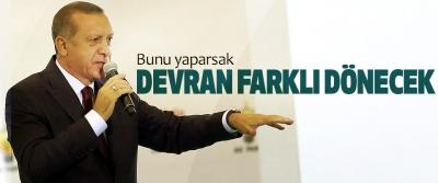 Cumhurbaşkanı Erdoğan:  Bunu yaparsak Devran Farklı Dönecek