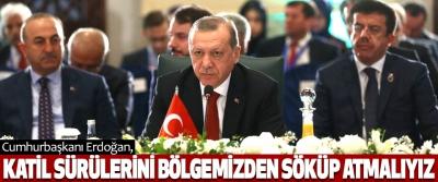 Cumhurbaşkanı Erdoğan, Katil Sürülerini Bölgemizden Söküp Atmalıyız