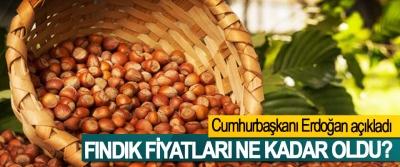 Cumhurbaşkanı Erdoğan açıkladı, Fındık fiyatları ne kadar oldu?