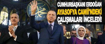 Cumhurbaşkanı Erdoğan, Ayasofya Camii'ndeki Çalışmaları İnceledi!
