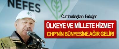 Cumhurbaşkanı Erdoğan: Ülkeye ve millete hizmet CHP'nin bünyesine ağır gelir!