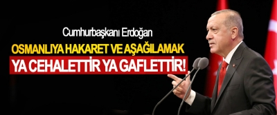 Cumhurbaşkanı Erdoğan: Osmanlıya Hakaret Ve Aşağılamak Ya Cehalettir Ya Gaflettir!