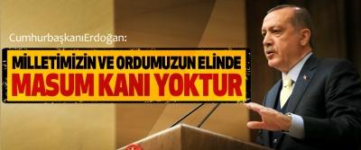 Cumhurbaşkanı Erdoğan: Milletimizin Ve Ordumuzun Elinde Masum Kanı Yoktur