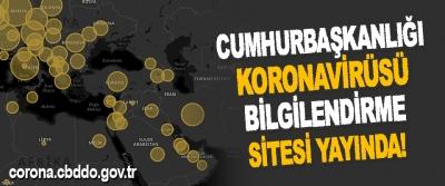 Cumhurbaşkanlığı Koronavirüsü Bilgilendirme Sitesi Yayında!