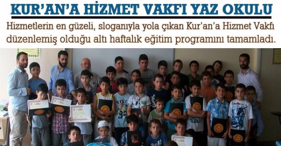 Kur'an'a Hizmet Vakfı Yaz Okulu