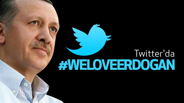 Twitter'da #Weloveerdogan