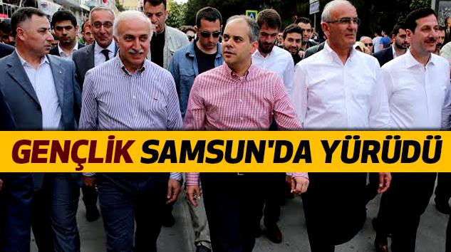 Gençlik Samsun'da Yürüdü