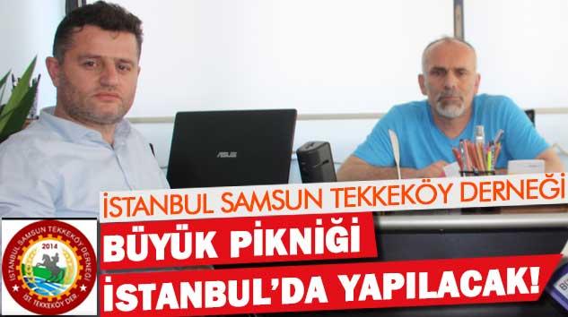 İstanbul Samsun Tekkeköy Derneği Büyük Pikniği İstanbul'da yapılacak!