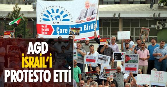 AGD,İsrail'i Protesto Etti!