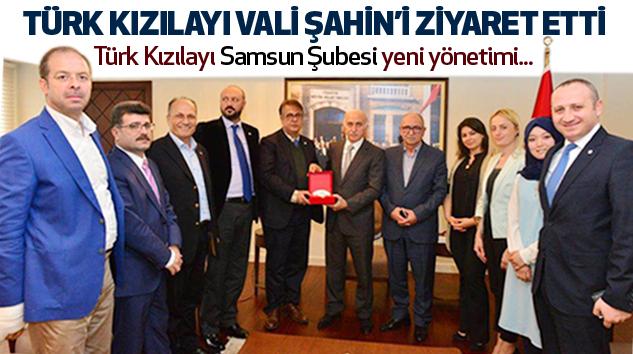 Türk Kızılayı'ndan Vali Şahin'e Ziyaret Etti...