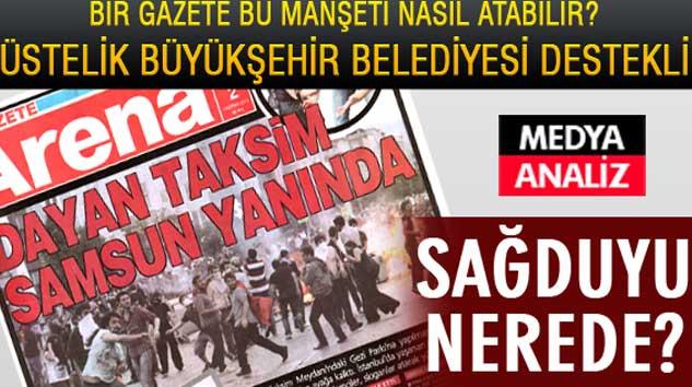 Samsun Büyükşehir Belediyesi'nin desteklediği bir gazete bu manşeti nasıl atabilir!