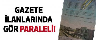 Samsun'da gazete ilanlarından gör paraleli!