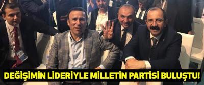 Değişimin lideriyle milletin partisi buluştu!