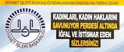 Diyanet İşleri Başkanlığı'ndan Ankara Barosu'na Tarihi Cevap