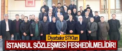 Diyarbakır STK'ları; İstanbul sözleşmesi feshedilmelidir!