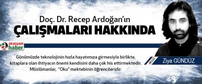 Doç. Dr. Recep Ardoğan'ın çalışmaları hakkında