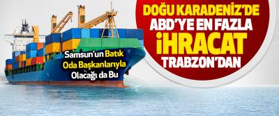 Doğu Karadeniz'de ABD'ye En Fazla İhracat Trabzon'dan