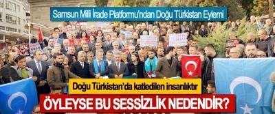 Doğu Türkistan'da katledilen insanlıktır Öyleyse bu sessizlik nedendir?