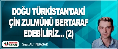 Doğu Türkistan'daki Çin Zulmünü Bertaraf Edebiliriz… (2)