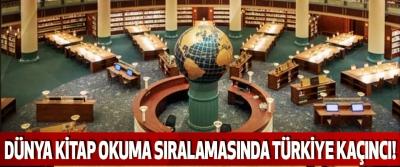 Dünya kitap okuma sıralamasında türkiye kaçıncı!