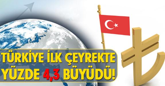 TÜRKİYE İLK ÇEYREKTE YÜZDE 4,3 BÜYÜDÜ!