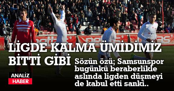 Samsunspor Gaziantepspor'la 0-0 berabere kaldı.