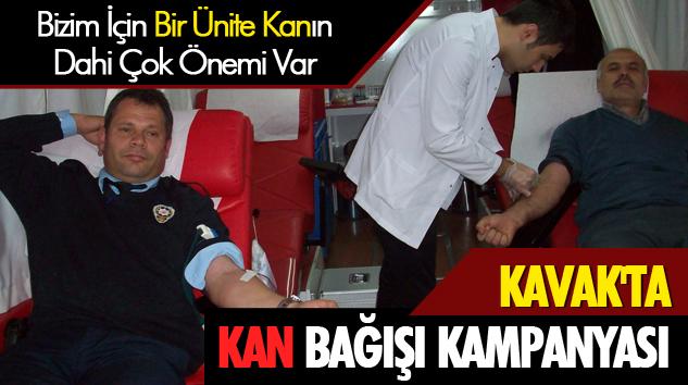 Kavak'ta kan bağışı kampanyası