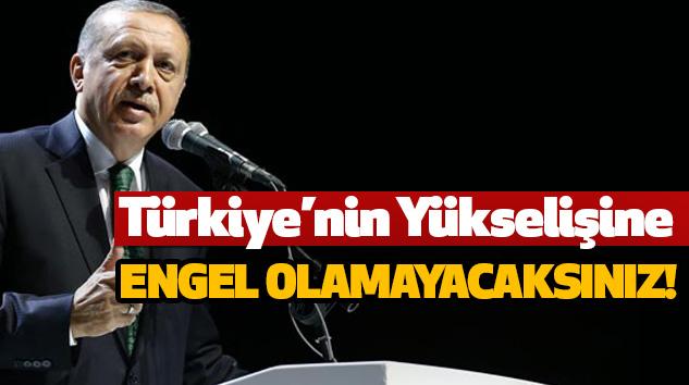 Türkiye'nin yükselişine engel olamayacaksınız!