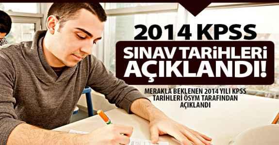 2014 Kpss Sınav Tarihleri Açıklandı!