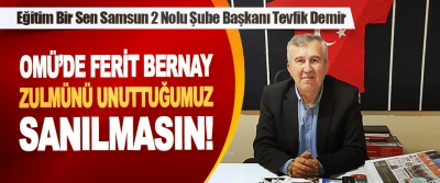 EĞİTİM BİR SEN Samsun 2'Nolu Şube Başkanı Tevfik Yılmaz Demir