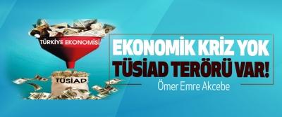 Ekonomik kriz yok TÜSİAD terörü var!