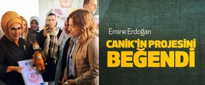 Emine Erdoğan Canik'in Projesini Beğendi