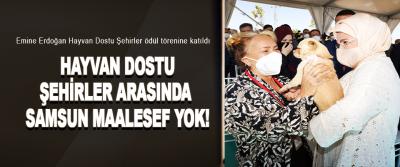 Emine Erdoğan Hayvan Dostu Şehirler ödül törenine katıldı