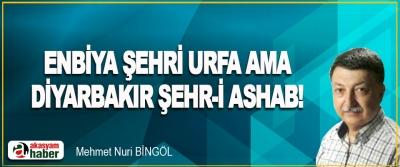 Enbiya Şehri Urfa Ama Diyarbakır Şehr-i Ashab!