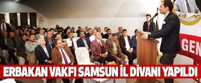 Erbakan Vakfı Samsun İl Divanı Yapıldı