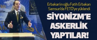 Erbakan'ın oğlu Fatih Erbakan Samsun'da FETÖ'ye yüklendi