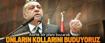 Erdoğan: Asırlık bir planı bozarak Onların Kollarını Buduyoruz