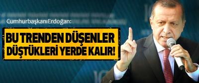 Erdoğan: Bu Trenden Düşenler Düştükleri Yerde Kalır!