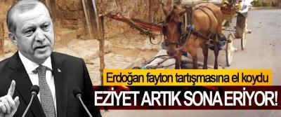Erdoğan fayton tartışmasına el koydu, Eziyet artık sona eriyor!