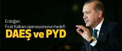 Erdoğan: Fırat Kalkanı operasyonunun hedefi daeş ve pyd