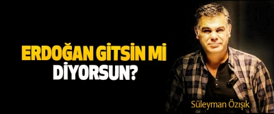 Erdoğan gitsin mi diyorsun?