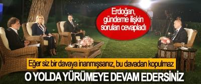 Erdoğan, gündeme ilişkin soruları cevapladı